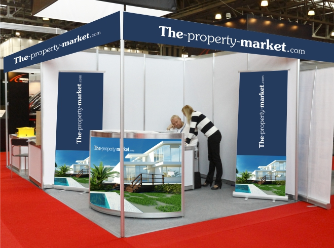 Simple Exhibition Stall : The property market display stands