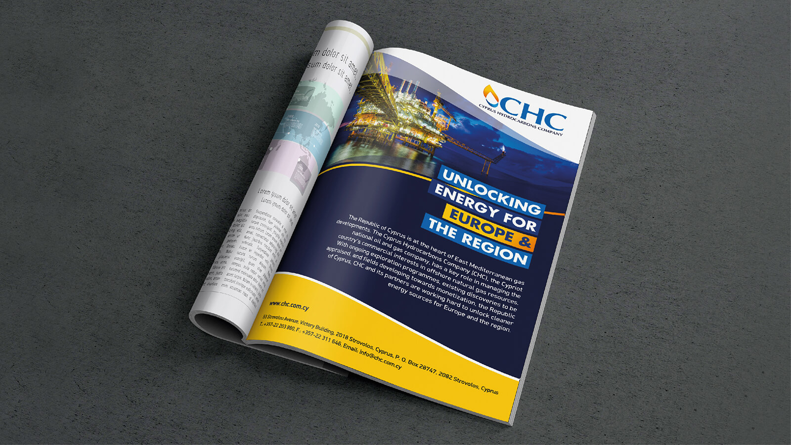The Cyprus Hydrocarbons Company Magazine Advertising