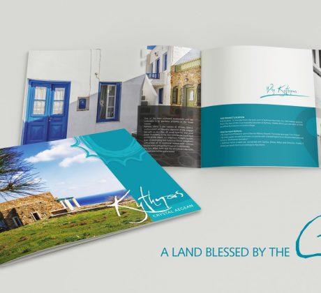 Chrystal Aegean Kythnos Brochure Design